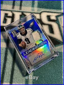 03/15 Nick Foles Auto Spectra Blue Prizm Eagles Game Used Patch Autograph Bears