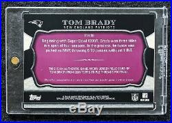 08 Topps Triple Threads Tom Brady Game-Worn 6x Jersey Patch Superbowl Rings #/20