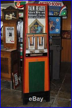 1930s Arcade Redemption Game EXHIBIT SUPPLY CO. PALM READER Cards Watch Video