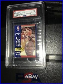 1991 Fleer 3-D Wrapper Redemption Michael Jordan All Star #211 PSA 8 RARE