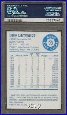 1994 Maxx Medallion 1988 Maxx Redemption Dale Earnhardt RC ROOKIE PSA 10 0003