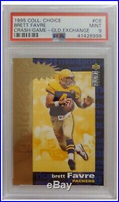 1995 Collectors Choice Brett Favre CRASH THE GAME GOLD #C6 graded PSA 9 POP 3