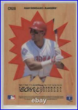 1996 Collector's Choice You Crash the Game Redemption Gold Juan Gonzalez #CR28
