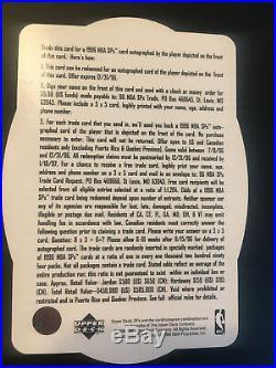 1996 SPx Autograph Trade Card Anfernee Hardaway Redemption