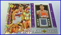 1996 Topps Rc Redemption Draft Pick Steve Nash Mt + Jersey Ud Game Hof