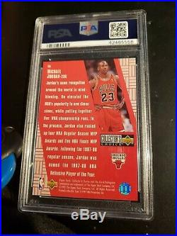1997 Collector's Choice Crash-game Redemption Michael Jordan Psa