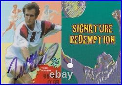 1997 Intrepid Australia Tennis Trading Card Todd Martin Signature + Redemption