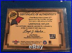 2000 Greats Game Auto LAWRENCE TAYLOR redemption Only Best Def Player