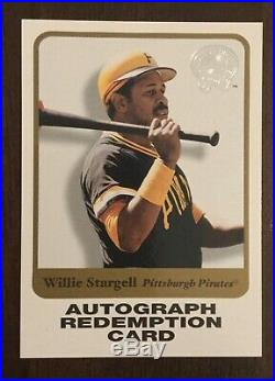 2001 Fleer Greats Of The Game Autograph Card Willie Stargell Redemption Card