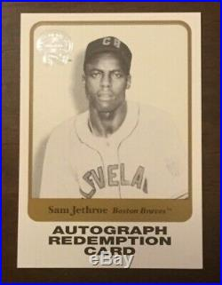 2001 Fleer Greats Of The Game Autograph Redemption Card Sam Jethroe