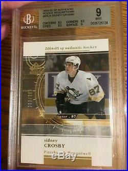 2004 Sidney Crosby SP Authentic Rookie Redemptions RR24 BGS 9 /399 Mint