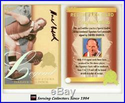 2007 Select AFL Supreme Cards Signature Redemption Card LGS13 Darrel Baldock