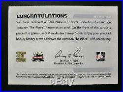 2012 Between the Pipes Redemption Game Glove BTPR-43 Marc-Andre Fleury #ed/10
