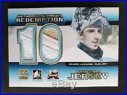 2012 Between the Pipes Redemption Game Used BTPR-42 Marc-Andre Fleury #ed/10