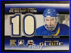 2012 Between the Pipes Redemption Game Used Glove BTPR-17 Dominik Hasek #ed/10