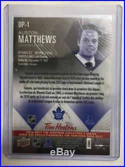 2016-17 Auston Matthews Tim Horton Ud Rc Redemption Mint