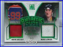2017-18 LEAF IN THE GAME USED REDEMPTION DYNAMIC DUOS 3/3 Gretzky Lemieux