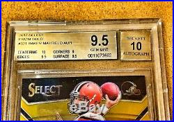 2017 BAKER MAYFIELD Select GOLD XRC Redemption /10 AUTO BGS 9.5 POPULATION 1