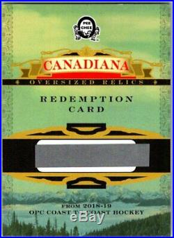 2018-19 OPC COAST TO COAST CANADIAN TIRE Canadiana Relics Redemption Card SP BV
