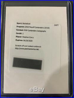 2018-19 Panini Contenders Curry And Durant Redemption Autos