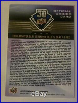 2018-19 Upper Deck 30th Anniversary Diamond Relics Black 1/1 Draft redemption
