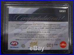 2018 Afl Legacy Generation Next Signature Card Redemption Ablett Jnr/snr 001/100