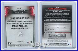 2018 Bowman Big League Breakthrough Ronald Acuna Jr Redemption & Prize Card /145