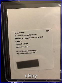 2018 Contenders Tom Brady MVP Gold Auto Redemption SSP Patriots /5