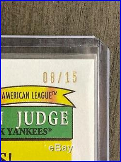 2018 Topps Archives Aaron Judge/Dave Winfield Yankees Dual Auto Redemption. /15