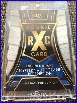 2018 XRC Mystery Autograph Tie-Dye Prizm Redemption Card #321 1st pick MURRAY
