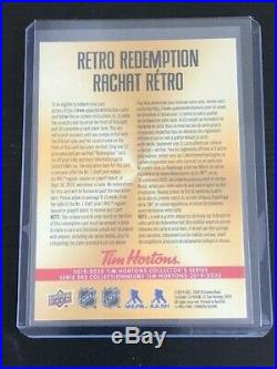 2019-20 Tim Hortons 2019 #1 NHL Draft Pick Retro Redemption Card Unscratched