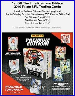 2019 PANINI PRIZM FOTL FOOTBALL HOBBY BOX FIRST OFF THE LINE In Stock