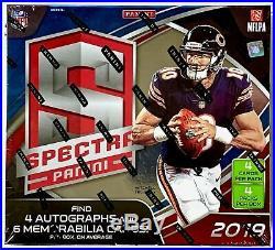 2019 Panini Spectra Football Sealed Hobby Box 4 Packs 10 Auto/Mem Murray Jones