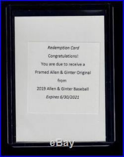 2019 Topps Allen & Ginter FRAMED ORIGINAL redemption card 1800s Buyback RARE 1/1