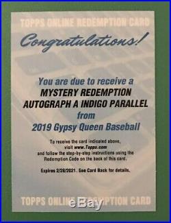 2019 Topps Gypsy Queen Mystery Redemption Auto A Indigo Vladimir Guerrero Jr. SP