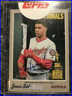 2019 Topps Heritage Juan Soto Real One Auto Sealed Live Redemption Sp