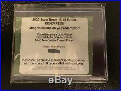 2020 Super Break Walter Payton & Mike Singletary DUAL Game Used Framed Piece