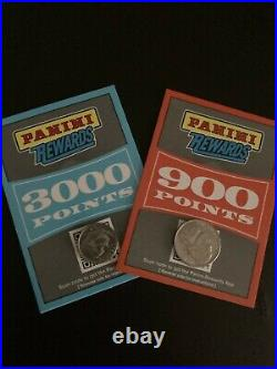 3,000 AND 900 Panini Rewards Points Redemption Cards Unused & Unredeemed