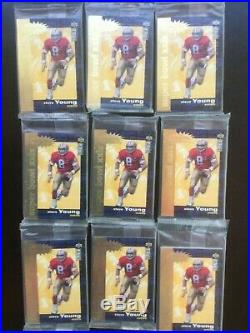 9 SEALED Sets 1995 Super Bowl XXIX Crash the Game Jerry Rice Steve Young