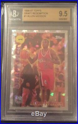 Allen Iverson 1996-97 Topps Draft Redemption Rookie Bgs 9.5 Gem Mint