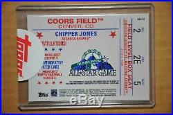 Chipper Jones 1/1 Autograph 2017 Topps All Star Redemption Card