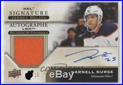 Darnell Nurse NHL jersey relics signature card redemption 2019-20 Tim Horton's