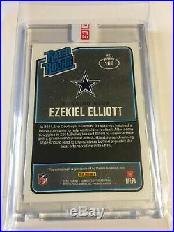 Ezekiel Elliott AUTO ROOKIE 2016 Donruss Optic Bronze