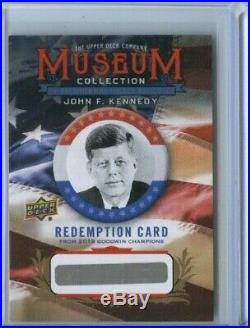 John F Kennedy Mystery Redemption Unannounced Relic 2019 Goodwin Champions