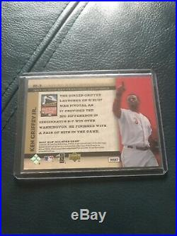 Ken Griffey 2007 MLB ALL-STAR GAME UD FANFEST REDEMPTION RARE