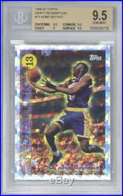 Kobe Bryant 1996-97 Topps Draft Redemption #13 Beckett BGS 9.5