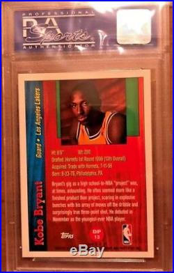 Kobe Bryant 1996-97 Topps Draft Redemption Rookie Psa 9 Rc L@@k Black Mamba