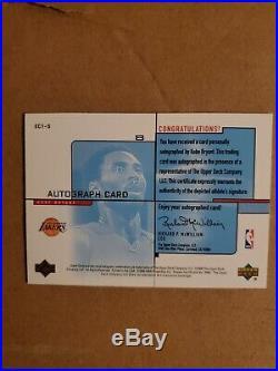 Kobe Bryant 2000-01 Ud Evolve Autograph Redemption Auto /200 Lakers