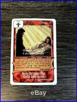 Mary Merry Christmas From Catcus Game Design Redemption Ccg Promo Card