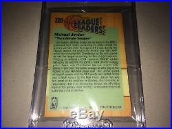 Michael Jordan 1991 Fleer 3-d Wrapper Redemption Acrylic League Leader #220 Mint